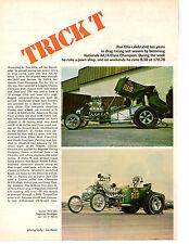 1969 RON ELLIS  ~  AA/ALTERED DRAG RACING  ~  ORIGINAL 2-PAGE ARTICLE