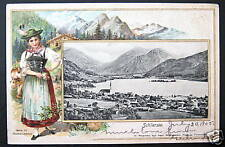 GERMANY~1905 SCHLIERSEE ~ FARMER GIRL ~ Costume PC
