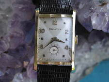Bulova Vintage 14K Gold Deco Wrist Watch, Hourglass Case