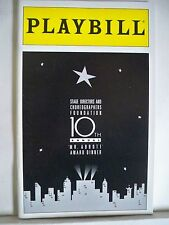 10TH ANNUAL MR ABBOTT AWARD DINNER Playbill JERRY ZAKS / GWEN VERDON / CBS NY 94