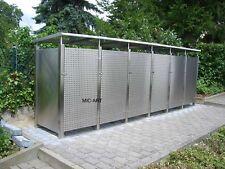 Edelstahl Mülltonnenbox, Mülltonnenumrandung, 6x Mülleimer 240 Liter