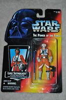 STAR WARS POWER OF THE FORCE LUKE SKYWALKER IN X-WING GEAR W/ SHORT SABER MOSC