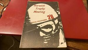 NORWICH --TROPHY--MOTOR CYCLING MEETING--PROGRAMME-8TH MARCH 1970