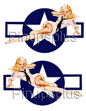 Pinup Girl Vinyl Decal Naval Star Stars and Bars Sailor Girl #1090 by Pinupsplus