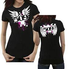 509 CLOTHING APPAREL ANGEL LOGO WOMENS BLACK T-SHIRT MEDIUM #509-CLO-WWT-MD
