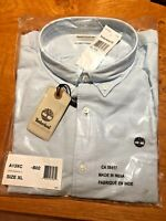 BNWT MEN'S TIMBERLAND PALE BLUE SLIM FIT RATTLE RIVER SHIRT (SIZE XL) SEALED