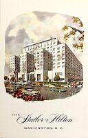 Statler Hilton Hotel Washington D.C. Vintage Postcard Unposted Vintage Cars NOS