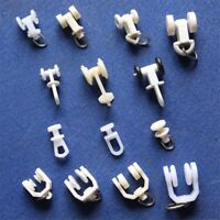 50pcs Plastic Curtain Track Rollers Glider Carriers Slide