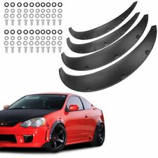 """4Pcs 2""""/50mm W/Bolts Universal Fender Flares Wide Body  Wheel Arches Durable PU"""