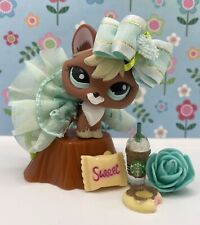 Authentic Littlest Pet Shop # 1126 Red Brown Blonde Fox Aqua Green Eyes W Outfit