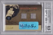 2005 Absolute Memorabilia Whitey Ford Yankees Auto Swatch #10/25 BGS 8.5