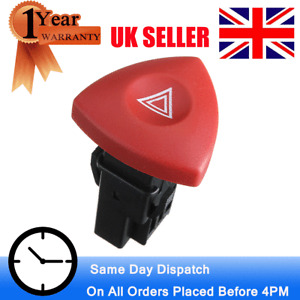 For VAUXHALL VIVARO TRAFIC RENAULT LAGUNA HAZARD WARNING LIGHT SWITCH