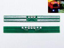 S422 - 2 Stk LED Platine Lichtträger für H0 LKW Rücklicht Scheinwerfer Blaulicht