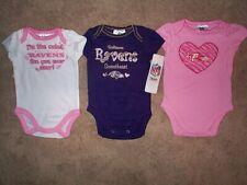(3) Baltimore Ravens nfl INFANT BABY NEWBORN Jersey Shirt 6-12M 6-12 Months