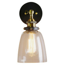 Industrial Edison 1 Light Glass Shade Wall Mount Fixture Home Bedroom Wall I2I2