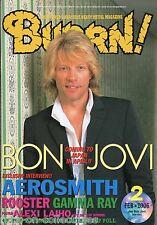 Burrn! Heavy Metal Magazine February 2006 Japan Bon Jovi Aerosmith Exodus