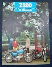 KAWASAKI Z200 Motorcycle Sales Brochure c1977
