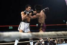 Old Boxing Photo Roberto Duran Blocks A Punch Against Edwin Viruet