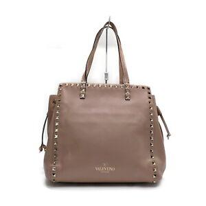 Valentino Hand Bag  Pinks Leather 1537781
