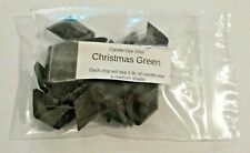 Christmas Green Diamond-Shaped Dye Color Chips Package of 24