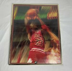 Rare VTG 1992 Nike Michael Jordan #23 NBA Collectible Poster 20x16""