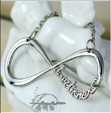 Silver One Direction Necklace Infinity & Symbol with Letters Alloy Pendant Chain