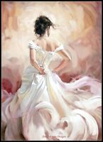 White Skirt Dancer - Counted Cross Stitch Patterns/Kits - Color Symbols Charts