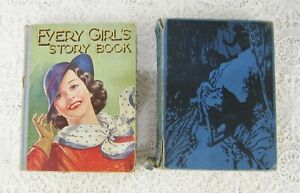 """2 Lovely Vintage Books """"Every Girl's Story Book"""" & """"All the Mowgli Stories"""" R622"""