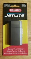 Ronson JetLite Butane Torch Lighter Adjustable Flame Refillable Dark Gray. New