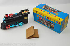 Vintage Kanto Toys # 1500 Choo-Choo Train Wind-Up Toy Mechanical W/box RUNS