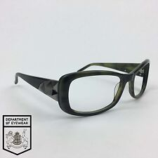 vera wang eyeglass green black frame rectangle authentic mod worn off