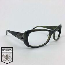Vera Wang Gafas Verde/Negro Marco Rectángulo auténtico. Mod: desgastado