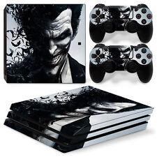 PS4 Pro Playstation 4 Pro Console Skin Decal Sticker The Joker Custom Design Set