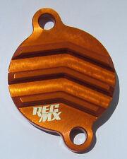 REC MX Orange Billet Oil Filter Cover KTM 250SXF 350SXF 450SXF Husqvarna FC2/350