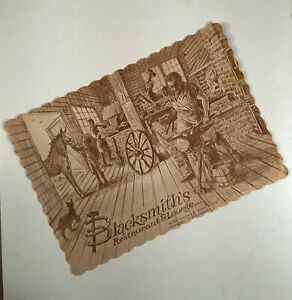 Monsey Rockland Co. NY: 1970s Advert. Placemat BLACKSMITH'S RESTAURANT & LOUNGE