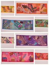 Indian Tapestry Wall Hanging Table Runner Patchwork Sari Handmade Embroidery New
