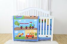 4 Piece Choo Choo Train Baby Nursery Crib Bedding Set