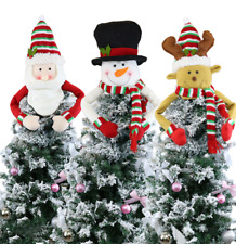 Christmas Tree Decoration Topper Hat Scarf Xmas Santa Snowman Hanging Ornament