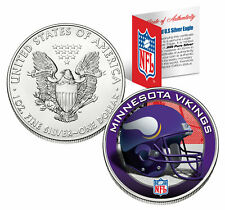 MINNESOTA VIKINGS 1 Oz American Silver Eagle $1 US Coin Colorized NFL LICENSED