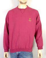 vtg 90s Ralph Lauren Chaps Mauve V Stitch Sweatshirt Cookie Crest sz L
