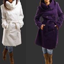 Knee Length Wool Hood Coats & Jackets for Women