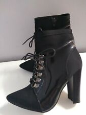 Style London  Victorian Steam Punk   Lace Up Boots  Black  Size 5 Ladies Womens