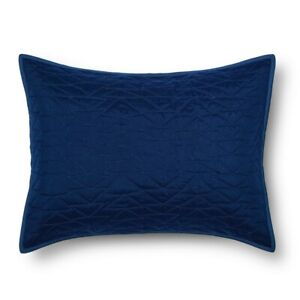 Triangle Stitch Pillow Sham Standard Blue from Pillowfort