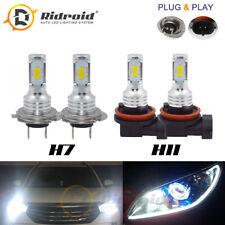 4PCS Mini H7 H11 Combo LED Headlight Bulbs High Low Beam 100W 16000LM 6000K Kit