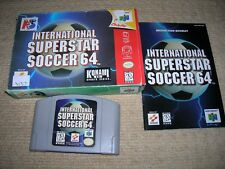 INTERNATIONAL SUPERSTAR SOCCER 64   - Rare NTSC Nintendo 64 Game