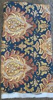 """Waverly Fabric By The Yard Marcelle Blue Floral Paisley 62"""" x 55"""""""