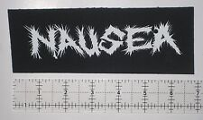 NAUSEA Crust Punk Patch Warsore Hellshock Extinction of Mankind MDC Phobia Peace