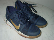 """2016 Nike Kyrie 3 """"Obsidian"""" Metallic Gold/White Youth Basketball Shoes! Size 5Y"""