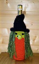 Wine Bottle Cover Bag/ Handmade Crochet Knit Bottle Bag Halloween Gift Bag