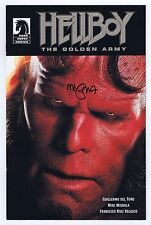 Hellboy the Golden Army 0 Promo Signed Mike Mignola w/COA VFNM 2008 Dark Horse